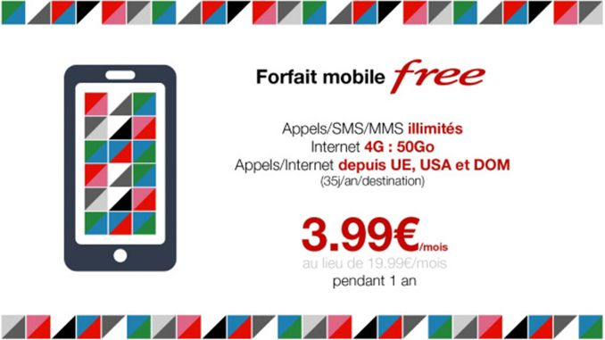 promo sur le forfait free mobile illimit promogeek. Black Bedroom Furniture Sets. Home Design Ideas